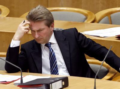 Andreas Pinkwart Anfang Februar im Landtag in Düsseldorf.