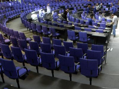 Stühle im Bundestag