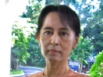 Birmas Friedensnobelpreisträgerin Aung San Suu Kyi. (Archivfoto)