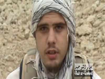 Der deutsche Islamist Eric Breininger, hier ein Screenshot aus einer früher im Internet verbreiteten Videobotschaft, soll getötet worden sein.