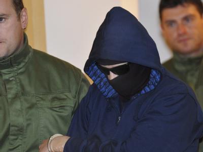 Der Angeklagte Alex W. am Dienstag im Gerichtssaal in Dresden.