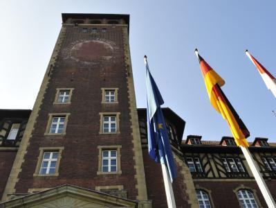 Blick auf das Landtagsgebäude in Potsdam.