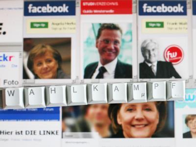 Auf zahlreichen Seiten wird für eine Teilnahme an der Bundestagswahl geworben.