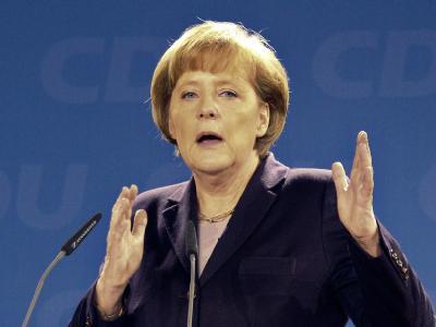 Parteichefin Merkel