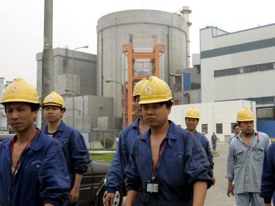 Atomkraftwerk in Qinshan (Archivbild): China hat nach eigenen Angaben einen «Durchbruch» in der Wiederaufarbeitung abgebrannter Brennelemente erzielt.