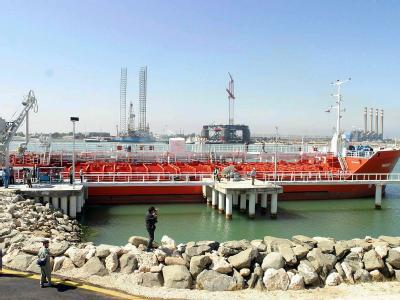 Der Öl-Terminal von Neka in Nordiran. Foto: Abedin Taherkenareh / Archiv