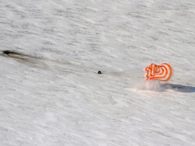 In Kasachstan ist eine Sojus-Kapsel gelandet.