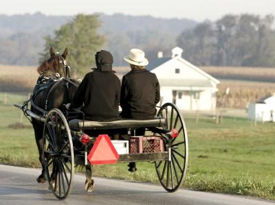 Amische leben zurückgezogen ohne Strom, Telefone oder Autos. Foto: Matthew Cavanaugh