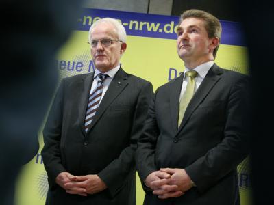 J�rgen R�ttgers und Andreas Pinkwart