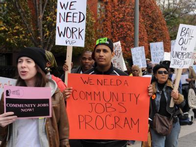 Demonstration gegen Arbeitslosigkeit