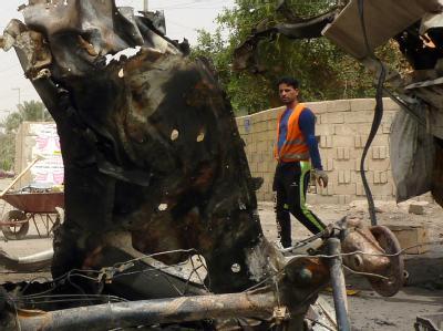 Nördlich der Stadt Bakuba sprengte sich laut Berichten lokaler Medien ein Selbstmordattentäter vor dem Haus eines Offiziers der Nationalen Sicherheitskräfte in die Luft. Foto: Ali Abbas