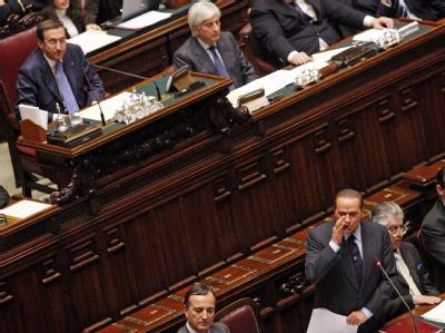 Silvio Berlusconi im Parlament