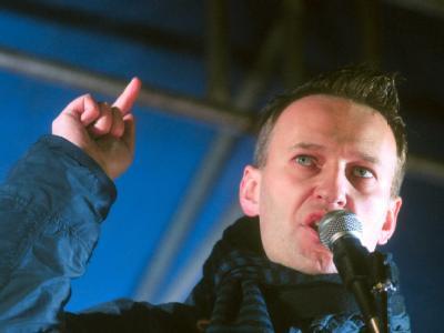 Der Moskauer Internet-Rebell Alexej Nawalny bei einer Oppositionskundgebung in Moskau. Foto: Aleksandr Utkin/ Archiv