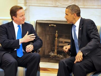 US-Präsident Obama beim Treffen mit dem britischen Premier David Cameron im Weißen Haus.