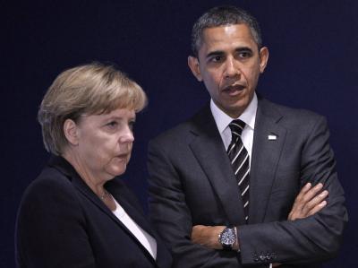 Merkel und Obama in Cannes