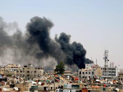 Die Kämpfe zwischen Regierungstruppen und Oppositionellen haben mehrere Viertel der syrischen Hauptstadt Damaskus erreicht. Foto: SANA/Archiv