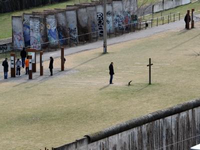 Die Mauer-Gedenkstätte in der Bernauer Straße in Berlin.