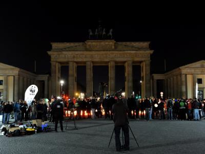 Brandenburger Tor bei der «Earth Hour» 2011