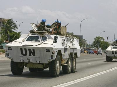 Blauhelme in Abidjan