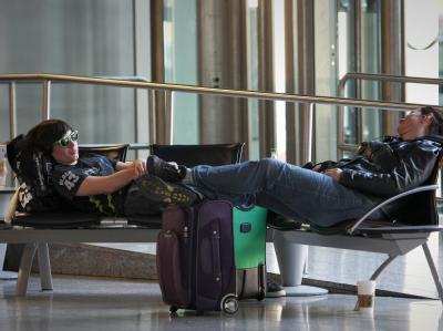 Viele Flugreisende mussten wegen der Warnstreiks lange Wartezeiten hinnehmen. Foto: Fredrik von Erichsen