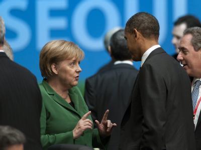 Kanzlerin Merkel und US-Präsident Obama auf dem G20-Gipfel.