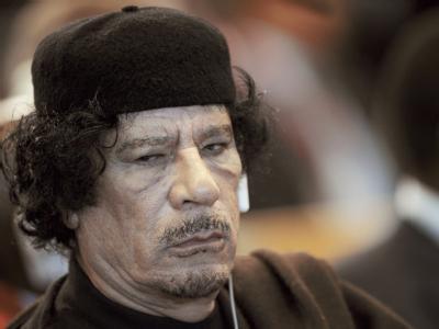 Die Proteste richten sich gegen den libyschen Staatschef Muammar al-Gaddafi.