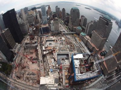 August 2010: Der Bau des neuen World Trade Centers geht knapp neun Jahre nach den Terroranschlägen stetig voran.
