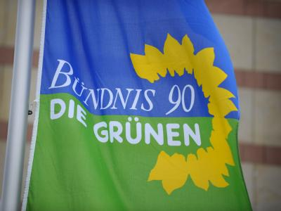 Fahne der Grünen