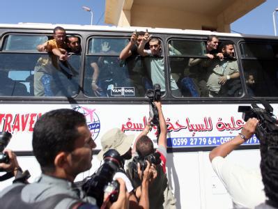 Insgesamt will Israel in dem größten Häftlingsaustausch in Nahost seit gut einem Vierteljahrhundert 1027 Palästinenser freilassen. Foto: Khaled Elfiqi