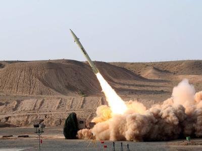 Test einer Kurzstreckenrakete im Iran: In den vergangenen Monaten hat der Iran vermehrt Raketentest durchgeführt. Foto: Iranian defence ministry