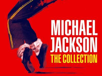 Fünf Top-Alben von Michael Jackson in einer Box.