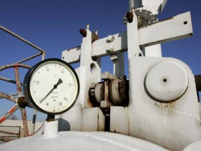 Gasdruckanzeige an der Pipeline von Gazprom in Bojarka in der Nähe von Kiew, Ukraine. Foto: Sergey Dolzhenko / Archiv