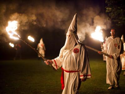 Mitglieder des Ku-Klux-Klan