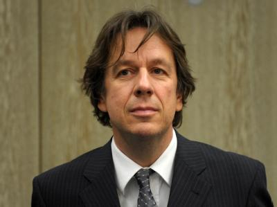 Wettermoderator Jörg Kachelmann im Gerichtssaal in Mannheim. Archivfoto: Ronald Wittek