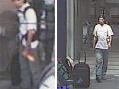 Videograbs von Tatverdächtigen im Fall der in zwei Regionalexpress-Zügen sichergestellten Kofferbomben (Bilder vom 31.7.2006).