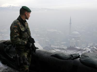 Bundeswehrsoldat im Kosovo