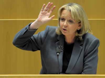 Die nordrhein-westfälische Ministerpräsidentin Hannelore Kraft (SPD) im Landtag in Düsseldorf. (Archivbild)