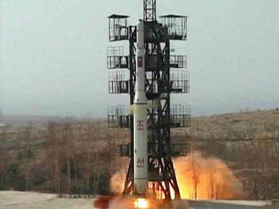 Nordkoreanische Rakete: Pjöngjang droht Südkorea mit militärischen Schritten.