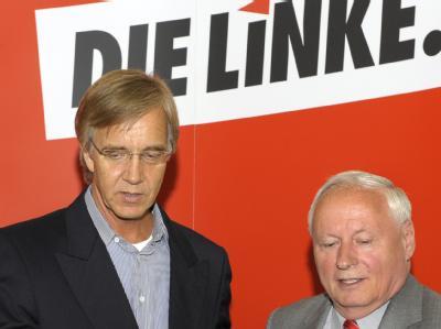 Der scheidende Linken-Chef Lafontaine wirft dem ebenfalls vor dem Rückzug stehenden Bundesgeschäftsführer Bartsch «niederträchtiges» Verhalten vor.
