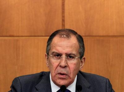 Russlands Außenminister Sergej Lawrow will noch einmal mit der syrischen Führung sprechen. Foto: Maxim Shipenkov