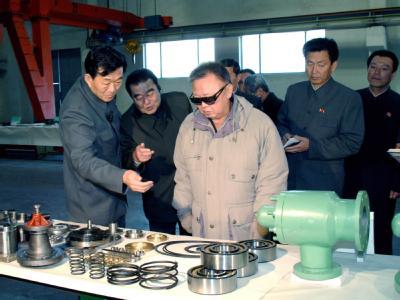 Typisch: Sonnenbrille und Hände in den Taschen. Mit dem täglichen offiziellen Foto wurde gezeigt, dass sich der Geliebte Führer wirklich um alles kümmerte. Foto: Yonhap