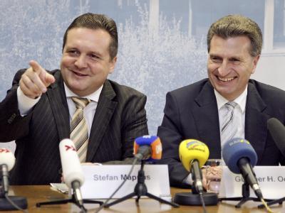 Stefan Mappus und  Günther Oettinger