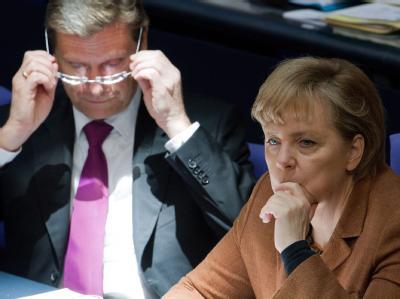 Merkel und Westerwelle