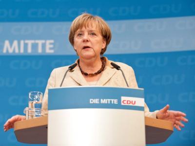 Angela Merkel: «Die Koalition arbeitet.»