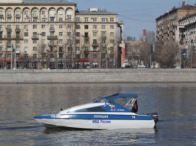 Polizeiboot in Moskau