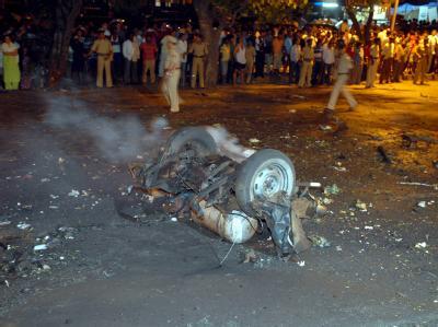 Im November 2008 erschütterte eine Serie von Explosionen das Finanzviertel von Mumbai. Ein mutmaßlicher indischer Hintermann der Anschläge wurde nun festgenommen. Foto: epa