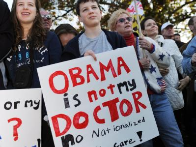 Proteste gegen das Reformvorhaben von US-Präsident Barack Obama in Washington am 7. November 2009.