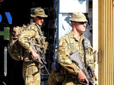 Soldaten der australischen Friedentruppe in Osttimor. (Archivbild)