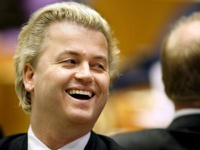 Geert Wilders von der ausländerfeindlichen Partei für die Freiheit (PVV).