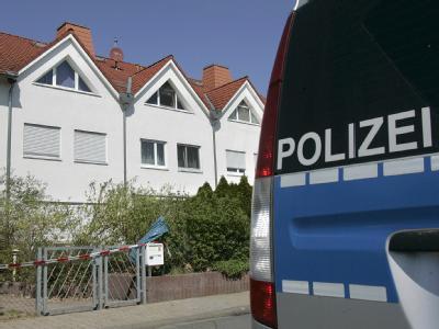 Das Einfamilienhaus in Babenhausen in dem der Doppelmord stattgefunden hat.